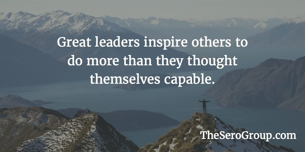 Great leaders inspire
