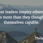 Great leaders inspire