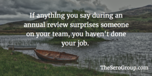 Failing Your Annual Review