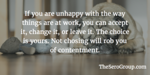 Three Options for Increased Contentment at Work